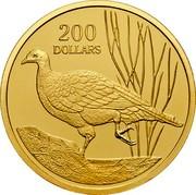 Australia 200 Dollars Malleefowl bird 2005 B Proof KM# 753 200 DOLLARS coin reverse
