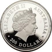 Australia 200 Dollars The Australian Koala 2003 KM# 929 ELIZABETH II AUSTRALIA 200 DOLLARS IRB coin obverse