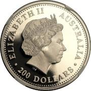 Australia 200 Dollars The Australian Koala 2004 KM# 934 ELIZABETH II AUSTRALIA 200 DOLLARS IRB coin obverse