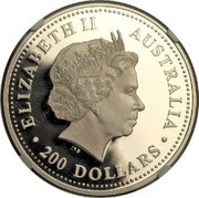 Australia 200 Dollars The Australian Koala 2005 KM# 938 ELIZABETH II AUSTRALIA 200 DOLLARS IRB coin obverse