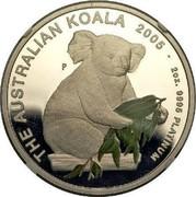 Australia 200 Dollars The Australian Koala 2005 KM# 938 THE AUSTRALIAN KOALA 2005 2 OZ. 9995 PLATINUM P coin reverse