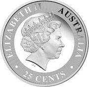 Australia 25 Cents Kangaroo 2017 P ELIZABETH II AUSTRALIA 25 CENTS IRB coin obverse