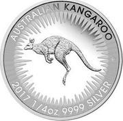 Australia 25 Cents Kangaroo 2017 P AUSTRALIAN KANGAROO 2016 1/4 OZ 9999 SILVER P coin reverse