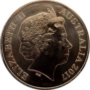 Australia 25 Cents Legends of the Anzacs - Distinguished Flying Cross 2017  ELIZABETH II AUSTRALIA 2017 IRB coin obverse