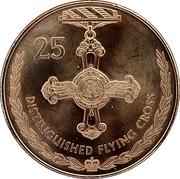 Australia 25 Cents Legends of the Anzacs - Distinguished Flying Cross 2017  25 DISTINGUISHED FLYING CROSS coin reverse