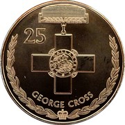 Australia 25 Cents Legends of the Anzacs - George Cross 2017  25 FOR GALLANTRY GEORGE CROSS coin reverse