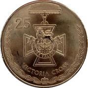 Australia 25 Cents Legends of the Anzacs - Victoria Cross 2017 Coin Card 25 FOR VALOUR VICTORIA CROSS coin reverse