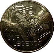 Australia 25 Cents Our Legends 2016  25 FOR VALOUR OUR 100 LEGENDS coin reverse
