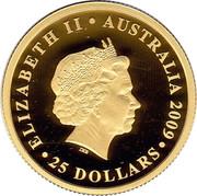 Australia 25 Dollars 2010 FIFA World Cup - South Africa 2009 P Proof KM# 1247 ELIZABETH II AUSTRALIA ∙ 25 DOLLARS ∙ IRB coin obverse