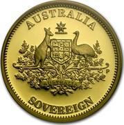 Australia 25 Dollars Australia Sovereign 2009 KM# 1397 AUSTRALIA SOVEREIGN AUSTRALIA P coin reverse