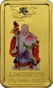 Australia 25 Dollars Chinese Mythological Character - Longevity 2009 P KM# 1274 LONGEVITY 10G 9999 GOLD coin reverse