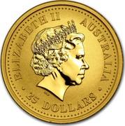 Australia 25 Dollars Climbing Monkey 2004 KM# 670 ELIZABETH II AUSTRALIA 25 DOLLARS coin obverse