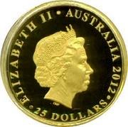 Australia 25 Dollars Diamond Jubilee 2012 KM# 1703 ELIZABETH II AUSTRALIA 2012 25 DOLLARS IRB coin obverse