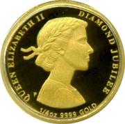 Australia 25 Dollars Diamond Jubilee 2012 KM# 1703 QUEEN ELIZABETH II DIAMOND JUBILEE 1/4 OZ 9999 GOLD P coin reverse