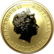 Australia 25 Dollars Kangaroo 2011 P KM# 1769 ELIZABETH II AUSTRALIA 25 DOLLARS coin obverse