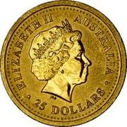 Australia 25 Dollars Kangaroo browsing 2002 KM# 898 ELIZABETH II AUSTRALIA 25 DOLLARS coin obverse