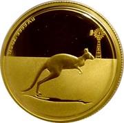 Australia 25 Dollars Kangaroo in outback 2010 Proof KM# 1506 1/5 OZ .9999 AU coin reverse