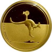 Australia 25 Dollars Kangaroo in outback 2010 Proof KM# 1507 1/5 OZ .9999 AU coin reverse