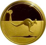 Australia 25 Dollars Kangaroo in outback 2010 Proof KM# 1508 1/5 OZ .9999 AU coin reverse