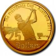 Australia 25 Dollars President's Cup 2011 Proof KM# 1623 THE PRESIDENTS CUP - AUSTRALIA 2011 25 DOLLARS coin reverse