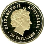 Australia 25 Dollars The Australian Nugget 2004 KM# 908 ELIZABETH II AUSTRALIA 25 DOLLARS coin obverse