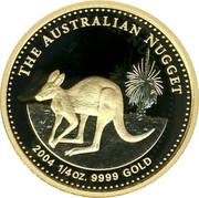 Australia 25 Dollars The Australian Nugget 2004 KM# 908 THE AUSTRALIAN NUGGET 2014 1/4 OZ. 9999 GOLD coin reverse
