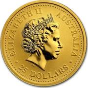 Australia 25 Dollars The Australian Nugget 2007 P KM# 1777 ELIZABETH II AUSTRALIA 25 DOLLARS IRB coin obverse