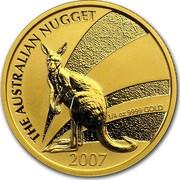 Australia 25 Dollars The Australian Nugget 2007 P KM# 1777 THE AUSTRALLIAN NUGGET 2007 1/4 OZ 9999 GOLD 2007 coin reverse