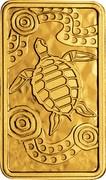 Australia 25 Dollars Turtle Dreaming 2009 Proof KM# 1106 - coin reverse