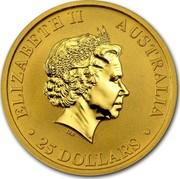 Australia 25 Dollars Two Playing Kangaroos 2010 KM# 1363 ELIZABETH II AUSTRALIA 25 DOLLARS IRB coin obverse