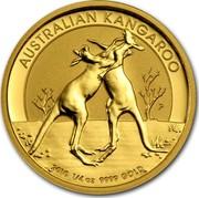 Australia 25 Dollars Two Playing Kangaroos 2010 KM# 1363 AUSTRALIAN KANGAROO 2010 1/4 OZ 9999 GOLD P coin reverse