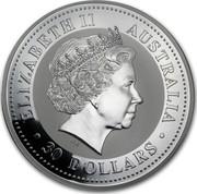 Australia 30 Dollars Australian Kookaburra 2003 KM# 880 ELIZABETH II AUSTRALIA 30 DOLLARS IRB coin obverse