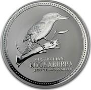 Australia 30 Dollars Australian Kookaburra 2003 KM# 880 AUSTRALIAN KOOKABURRA 2002 1 KILO 999 SILVER coin reverse