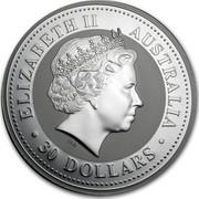 Australia 30 Dollars Australian Kookaburra 2005 KM# 888 ELIZABETH II AUSTRALIA 30 DOLLARS IRB coin obverse