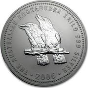 Australia 30 Dollars Australian Kookaburra 2005 KM# 888 THE AUSTRALIAN KOOKABURRA 1 KILO 999 SILVER 2005 P coin reverse