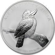 Australia 30 Dollars Australian Kookaburra 2010 KM# 1361 AUSTRALIAN KOOKABURRA 2010 1 KILO 999 SILVER P EM coin reverse