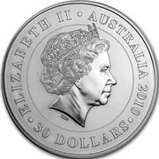 Australia 30 Dollars Koala 2010 (p) KM# 1369 ELIZABETH II AUSTRALIA 2010 30 DOLLARS coin obverse