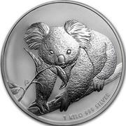 Australia 30 Dollars Koala 2010 (p) KM# 1369 P 1 KILO 999 SILVER coin reverse