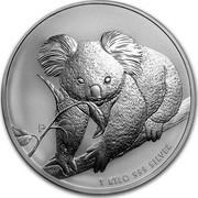 Australia 30 Dollars Koala on branch 2010 KM# 1466 1 KILO 999 SILVER P coin reverse
