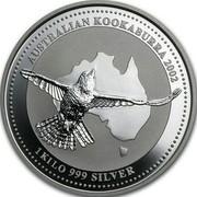 Australia 30 Dollars Kookaburra 2002 KM# 680 AUSTRALIAN KOOKABURRA 2002 1 KILO 999 SILVER coin reverse