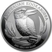 Australia 30 Dollars Kookaburra on a branch 2012 KM# 1694 AUSTRALIAN KOOKABURRA 2012 1 KILO 999 SILVER P coin reverse