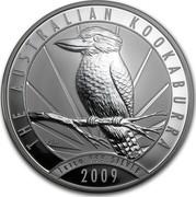 Australia 30 Dollars Kookaburra with sunburst on a background 2009 KM# 1115 AUSTRALIAN KOOKABURRA 1 KILO 999 SILVER 2009 P20 coin reverse