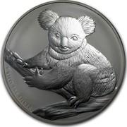 Australia 30 Dollars Sitting Koala 2009 KM# 1112 1 KILO 999 SILVER P coin reverse