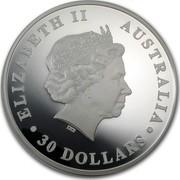 Australia 30 Dollars Sleeping Koala 2012 KM# 1842 ELIZABETH II AUSTRALIA 30 DOLLARS IRB coin obverse