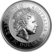Australia 30 Dollars The Australian Kookaburra 2004 KM# 882 ELIZABETH II AUSTRALIA 30 DOLLARS IRB coin obverse