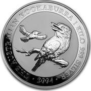 Australia 30 Dollars The Australian Kookaburra 2004 KM# 882 THE AUSTRALIAN KOOKABURRA 1 KILO 999 SILVER 2003 P JR coin reverse