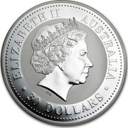Australia 30 Dollars The Australian Kookaburra 2007 KM# 892 ELIZABETH II AUSTRALIA 30 DOLLARS IRB coin obverse