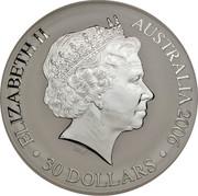 Australia 30 Dollars XVIII Commonwealth Games in Melbourne 2006 Proof KM# 784 ELIZABETH II AUSTRALIA 2006 ∙30 DOLLARS∙ IRB coin obverse