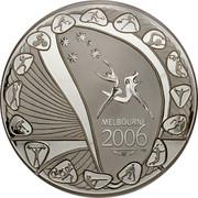 Australia 30 Dollars XVIII Commonwealth Games in Melbourne 2006 Proof KM# 784 MELBOURNE 2006 coin reverse
