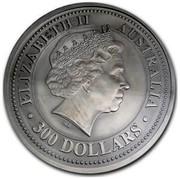 Australia 300 Dollars Year of the Dog 2006 KM# 1006 ELIZABETH II AUSTRALIA 300 DOLLARS IRB coin obverse